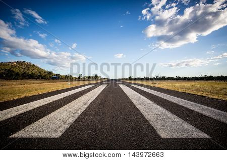 The rural Mount Surprise Airport runway in Queensland, Australia