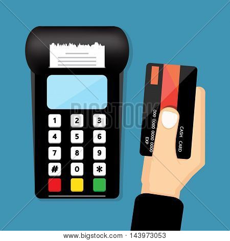 Swipe Credit Cards , vector design for business