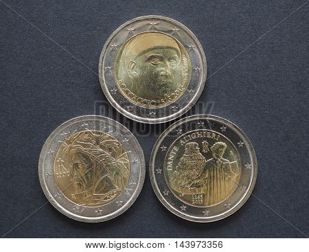 Eur Coins With Italian Writers