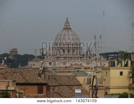 San Pietro Dome In Rome