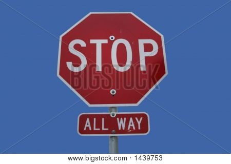 All Directions Stop Sign
