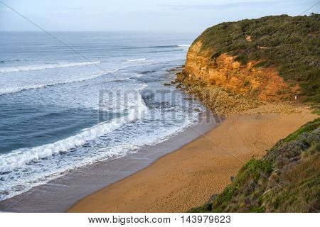 Bells Beach near Torquay and Great Ocean Road famous beach of Surf in Victoria Australia