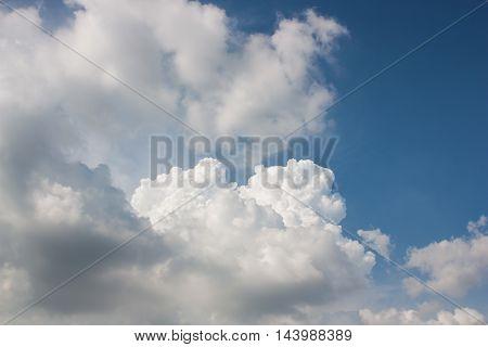 Sky rainy season clouds gathered thick, cloud formidable.
