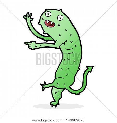 cartoon gross little monster