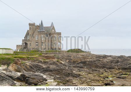 Turpault castle near a commune named Quiberon in the Morbihan department in Brittany France