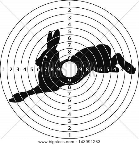 shooting target rabbit for shooting range vector illustration for print or website design