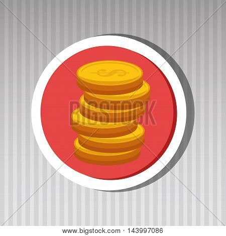 currency coins money cash vector illustration eps 10