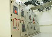 Electrical switchgear -- Industrial electrical switch panel poster