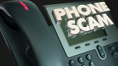 Phone Scam Fraud Call Solicitation Words 3d Illustration poster