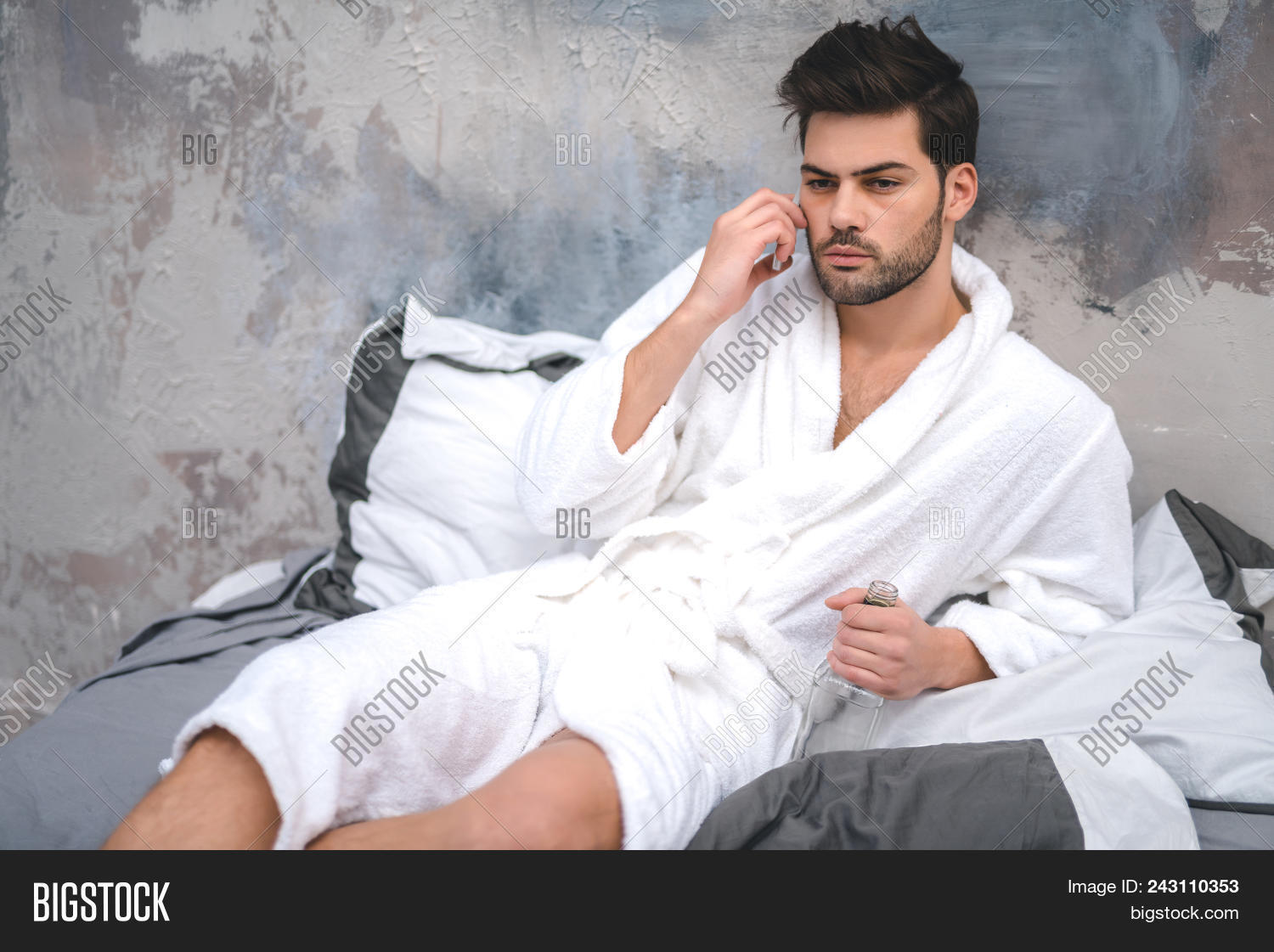 Man Dressing Gown Image Photo Free Trial Bigstock