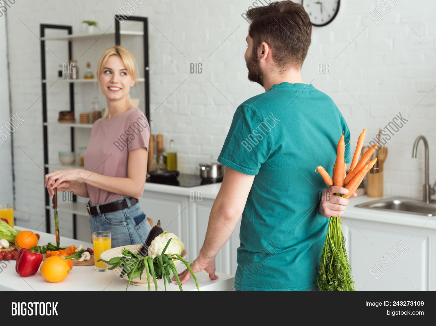Vegan Boyfriend Hiding Image & Photo (Free Trial) | Bigstock