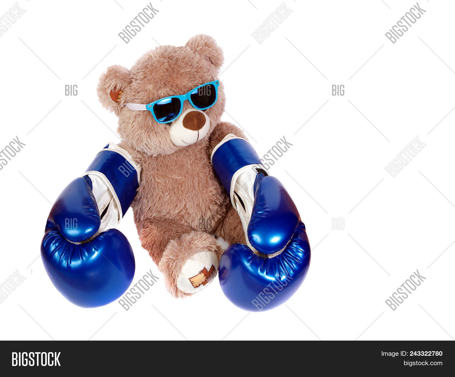 37b14d7290a Teddy Bear In Boxing Gloves Isolated On White. Little Boxer.