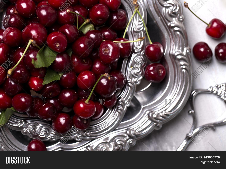Fresh Cherries Bowl On Image & Photo (Free Trial) | Bigstock