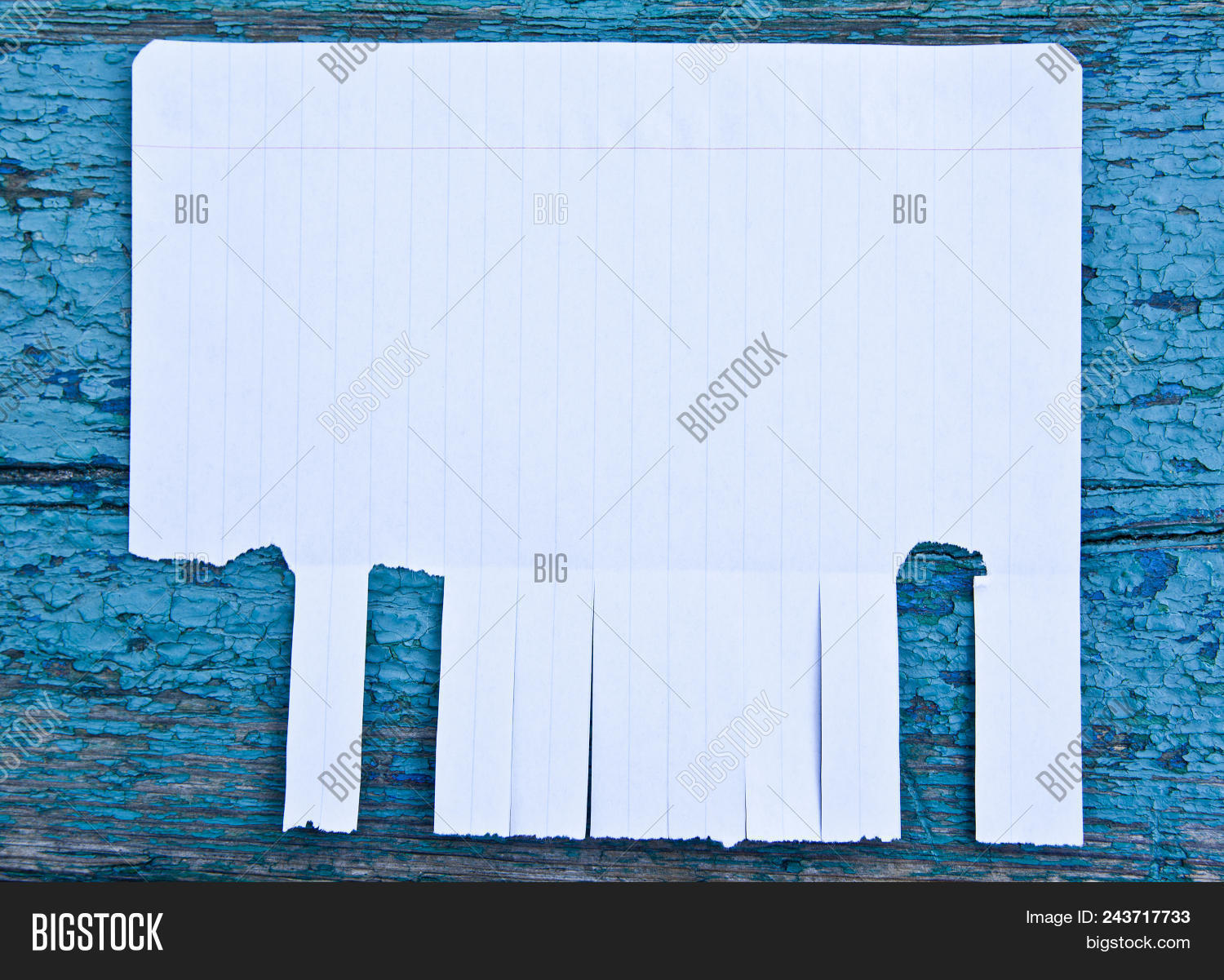 blank white paper tear image photo free trial bigstock