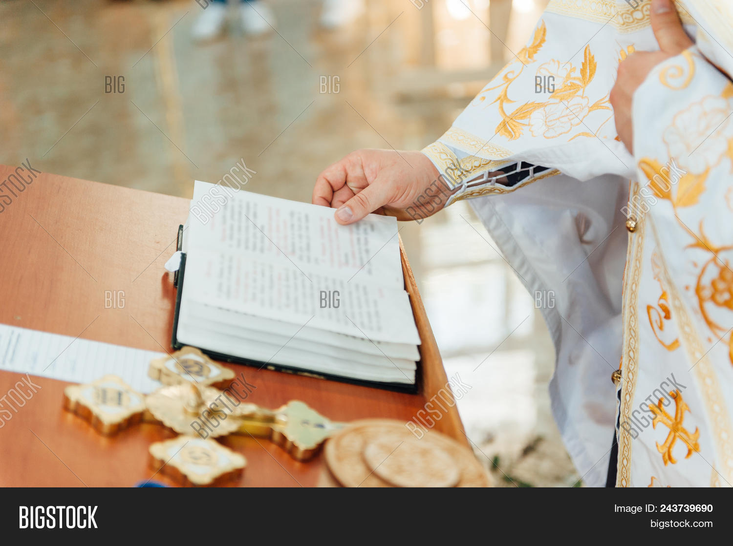Priest Blesses Image Photo Free Trial Bigstock