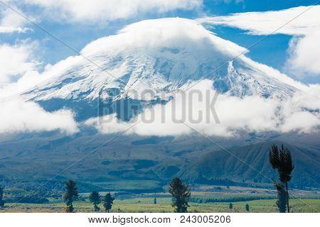 Cotopaxi Volcano And His Park  At Sunrise Latacunga Ecuador