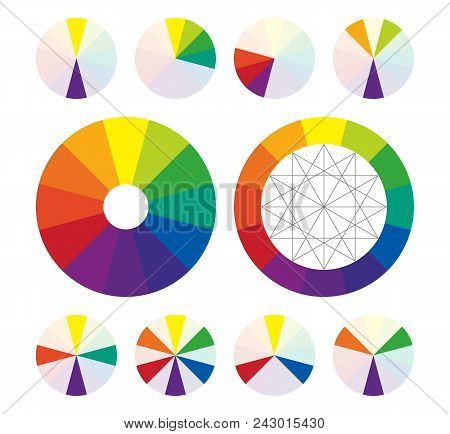 Color Wheel, Complementary Color Schemes In Vector