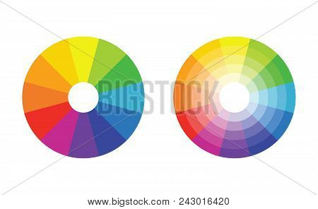 Color Wheel With 12 Colors In Gradiation Circle