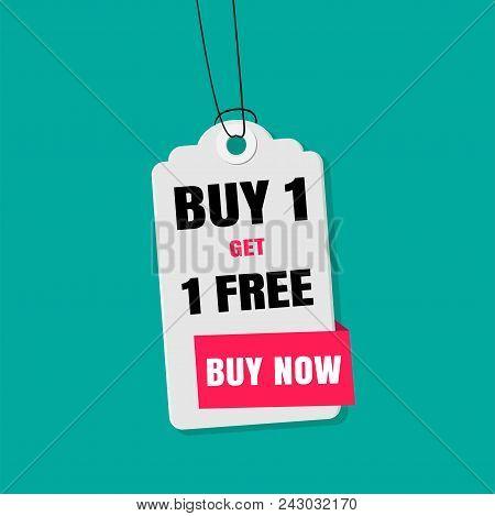 Tag Sale Buy 1 Get 1 Free Buy Now Vector Image