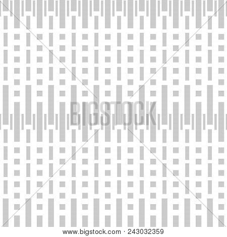 Simple Elegant Seamless Geometric Light Gray And White Pattern Of Rectangles
