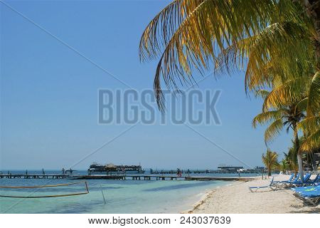 A Beautiful Background Of A Tropical Beach Vacation.