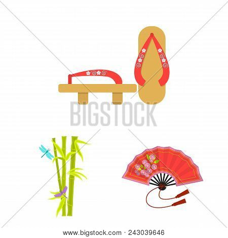 Country Japan Cartoon Icons In Set Collection For Design.japan And Landmark Vector Symbol Stock  Ill