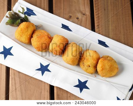 Irish Moss Croquettes  Croquettes Made With Potato And Irish Moss Seaweed. A Nutritious Vegan Starte