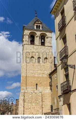 Tower Of The Basilica De San Isidoro In Leon, Spain
