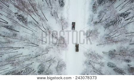 Military Armored Personnel Carriers In The Woods During Military Exercises. Clip. Top View Of Milita