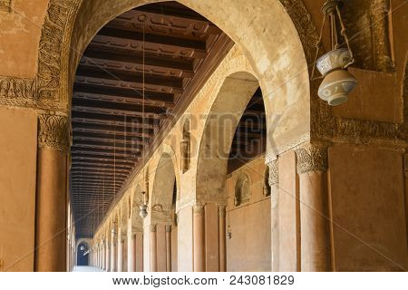 Cairo, Egypt - Ibn Tulun Mosque.  It is the oldest mosque in the city and is the largest mosque in Cairo