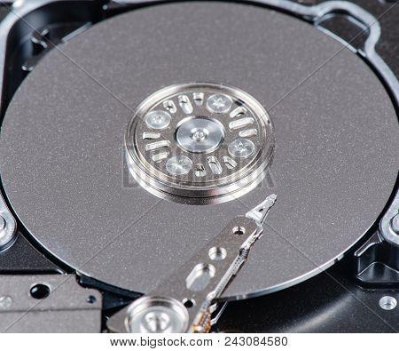 Sas Hard Disk Read And Write Head In The Macro Shot