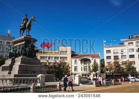 Sofia, Bulgaria - September 12, 2017: The Monument To The Tsar Liberator Is The Imposing Monument Of