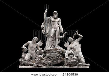 Fontana del Nettuno by Giovanni Ceccarini in Piazza del Popolo Rome Italy poster