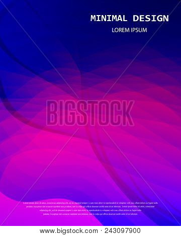 Trendy Template Set With Light Purple, Pink Futuristic Modern Shapes For Poster, Cover, Card, Brochu