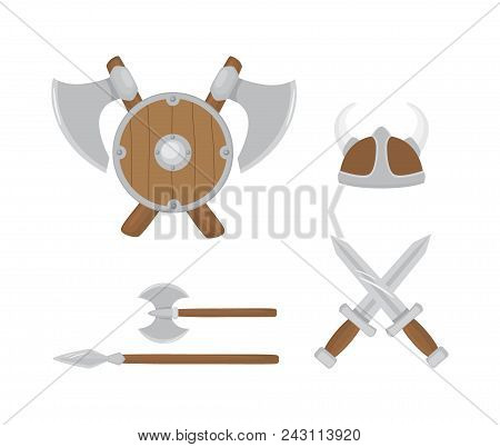 Set Viking Weapons, Vector & Photo (Free Trial) | Bigstock