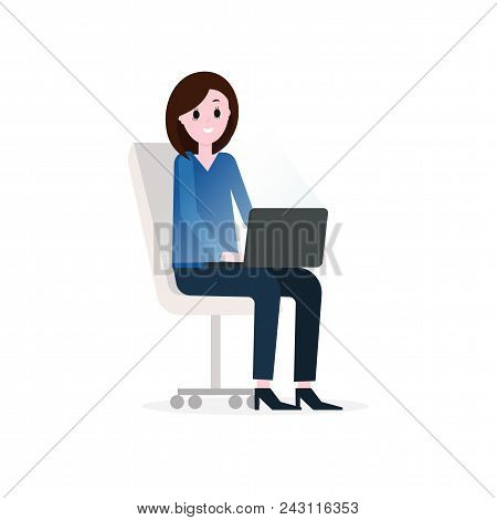 Businesswoman Working Vector Photo Free Trial Bigstock