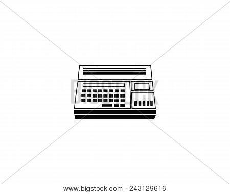 Calculator Vector Icon Or Calculator Symbol. Calculator Icon Or Calculator Pictogram For Logo With C