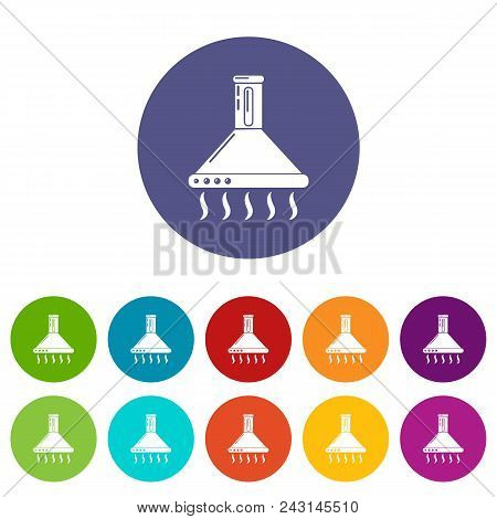 Exhaust Icons Color Set Vector For Any Web Design On White Background