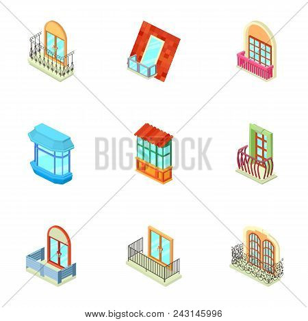 Storefront Icons Set. Isometric Set Of 9 Storefront Vector Icons For Web Isolated On White Backgroun