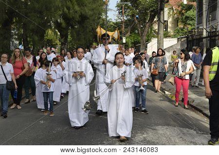 Procession Of The Church São Francisco Xavier