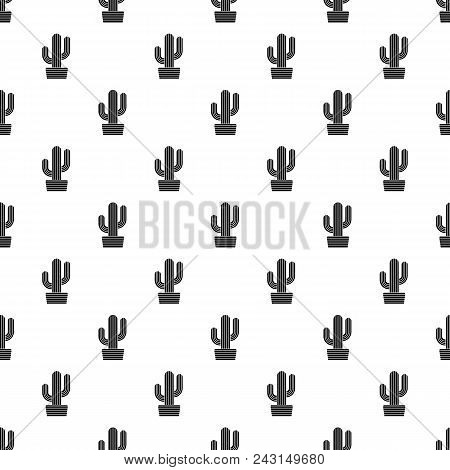 Tall Cactus Icon. Simple Illustration Of Tall Cactus Vector Icon For Web