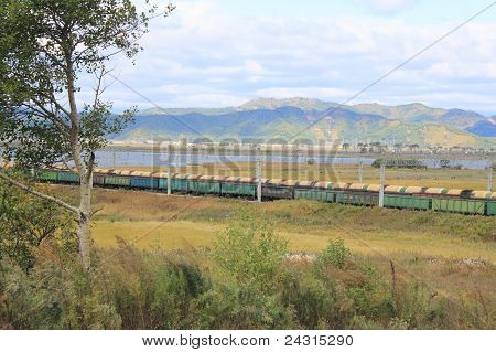 Freight Cars And Tanks With Fuel