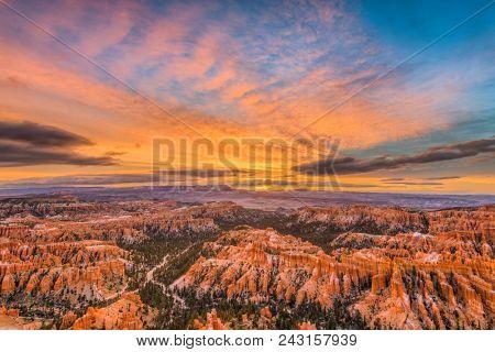 Bryce Canyon National Park, Utah, USA at dawn.