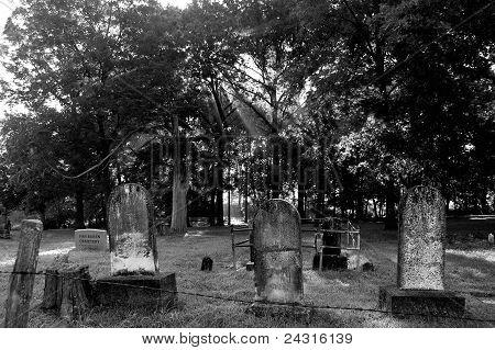 Cemetery at sunrise