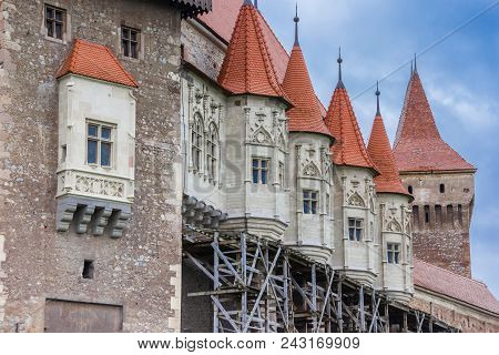 Towers Of The Hunedoara Castle In Romania