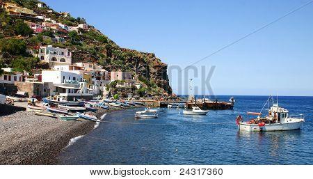 Alicudi harbour