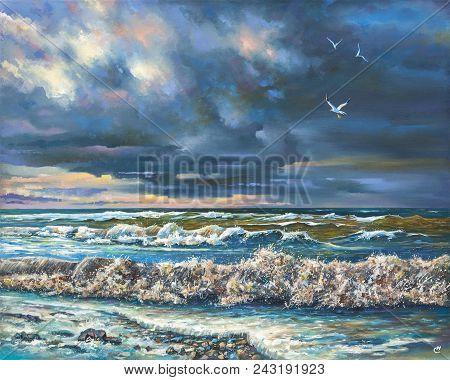 Artwork. Evening Storm. Author: Nikolay Sivenkov.