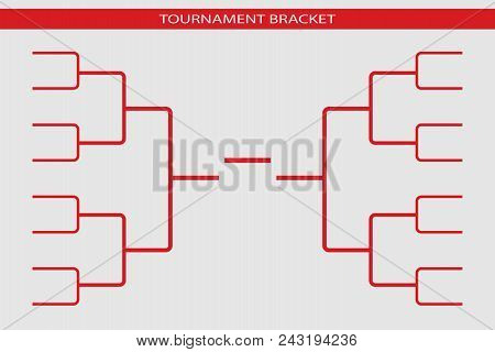 Tournament Bracket Vector. Championship Template.. Abstract Illustration Eps10. Graphic Background
