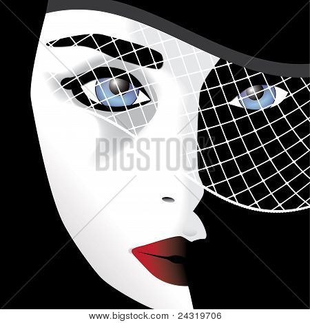 woman in veil vector
