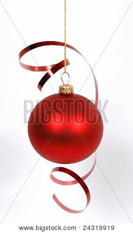 Hanging red glass